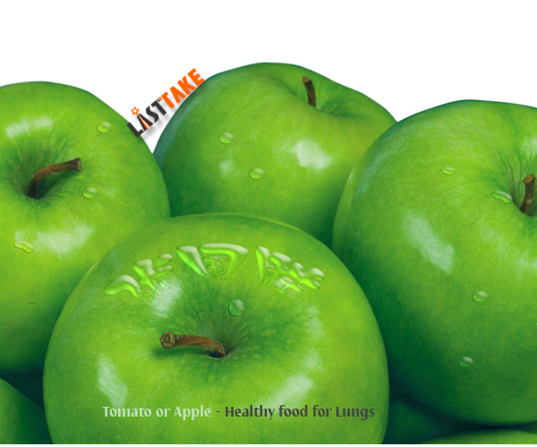Tomato or Apple - Healthy food for Lungs